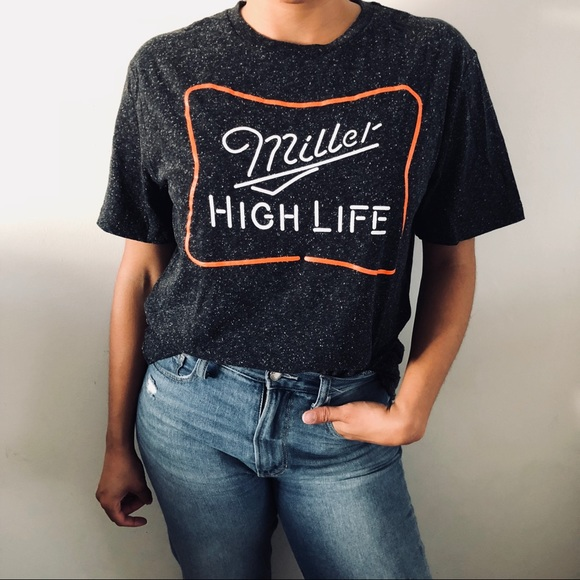 bc4d95e6 Urban Outfitters Miller High Life Beer Shirt *NEW*.  M_5b538a4ff63eead140cba8eb